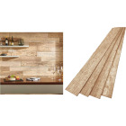 DPI 6 In. W. x 48 In. L. x 1/4 In. Thick Driftwood Rustic Wall Plank (12-Pack) Image 1