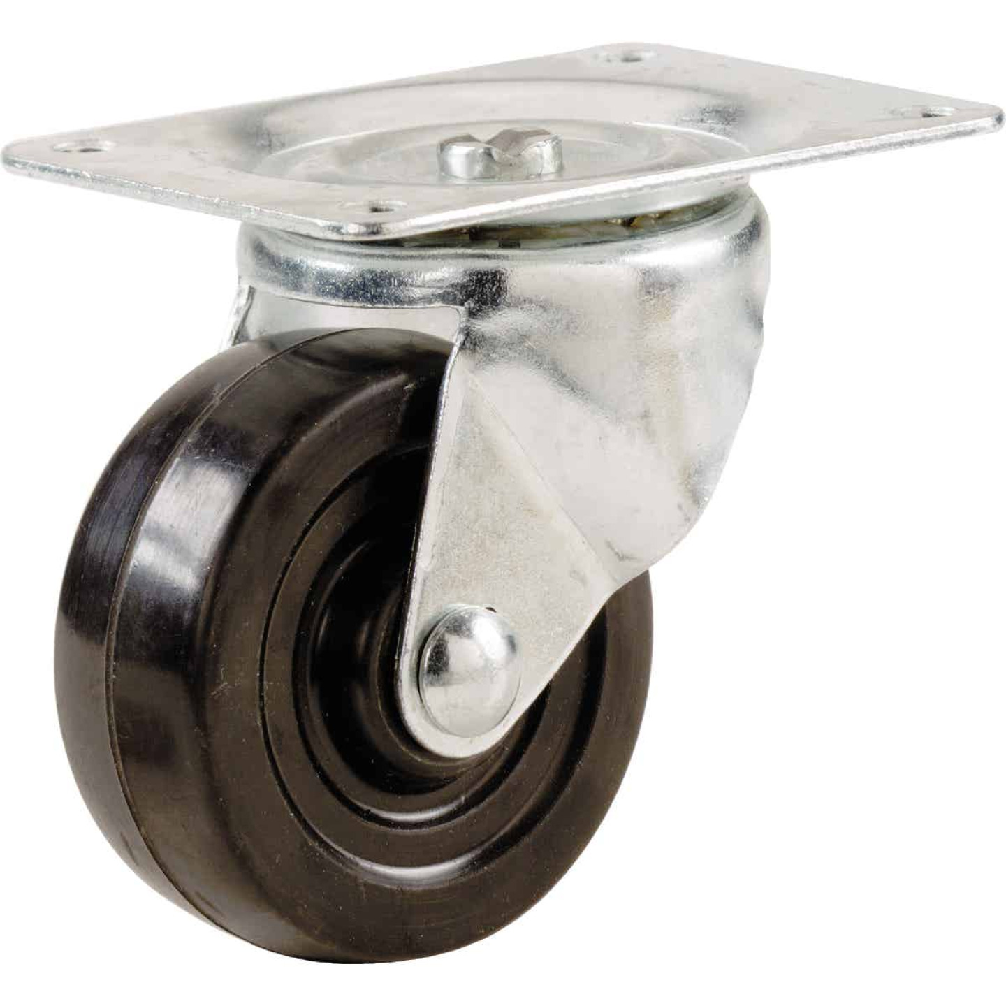 Shepherd 1-1/2 In. General-Duty Soft Rubber Swivel Plate Caster Image 1