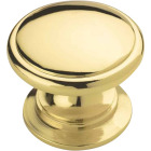 Amerock Ravino Polished Brass Round 1-1/4 In. Cabinet Knob Image 1