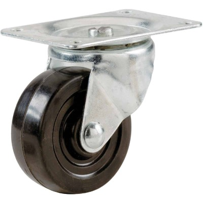 Shepherd 5 In. General-Duty Soft Rubber Swivel Plate Caster