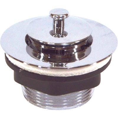 United States Hardware 1-7/8 In. Chrome Finish Bathtub Drain Stopper for Mobile Homes