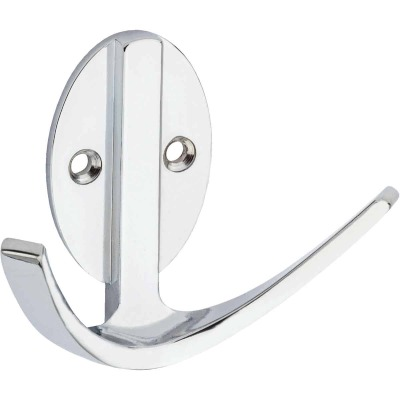 Stanley Home Designs Chrome Modern Double Robe Wardrobe Hook