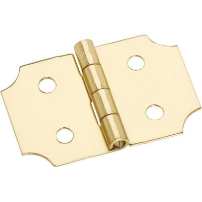 National 5/8 In. x 1 In. Brass Decorative Hinge (2-Pack)