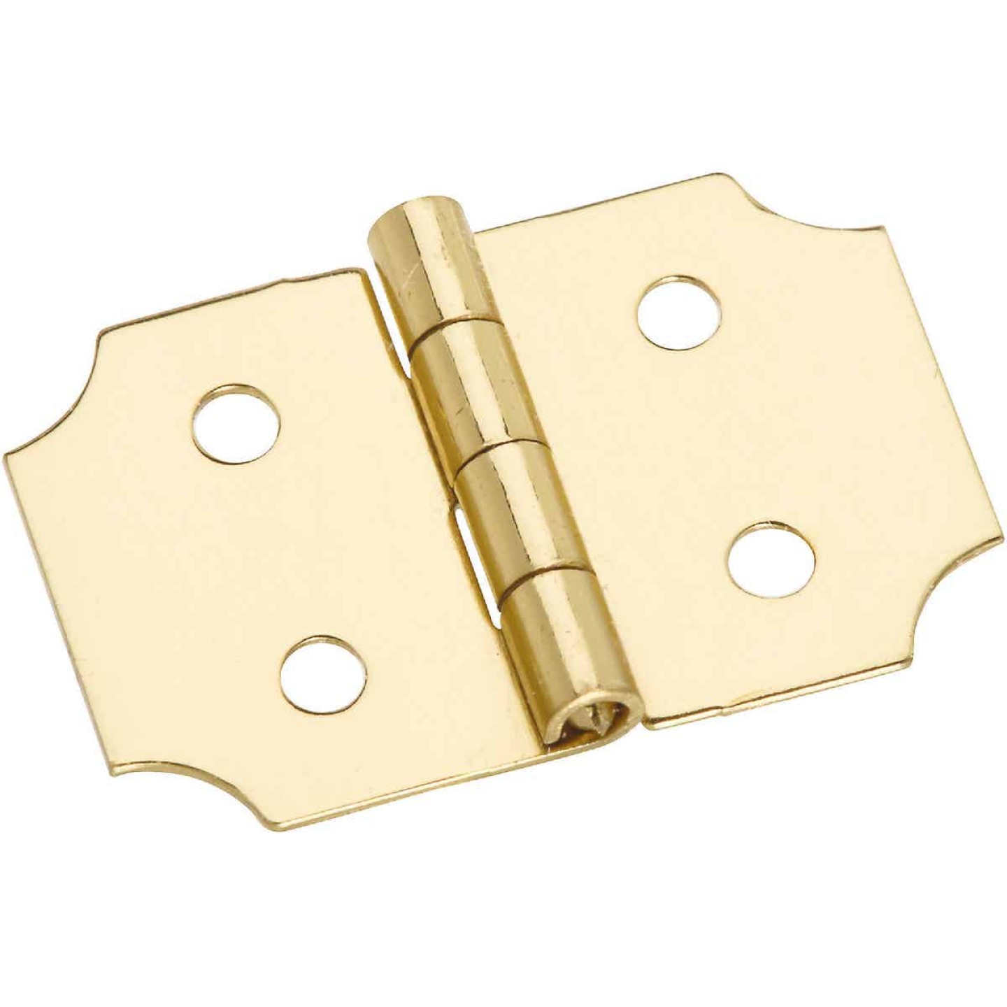 National 5/8 In. x 1 In. Brass Decorative Hinge (2-Pack) Image 1