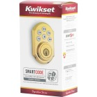 Kwikset Signature Series SmartCode Polished Brass Electronic Deadbolt Image 4