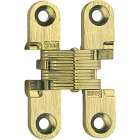 SOSS Satin Brass 1/2 In. x 1-3/4 In. Invisible Hinge, (2-Pack) Image 1