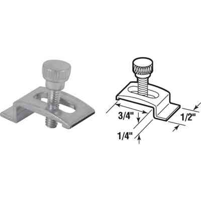 Prime-Line 1/2 In. W. x 1/4 In. H. x 3/4 In. L. Mill Storm Window Panel Clips (8 Count)