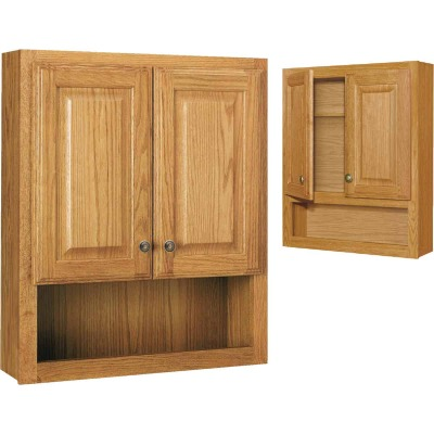 Continental Cabinets Modular Honey Oak Finish 23-1/4 In. W. x 28 In. H. x 7-1/4 In. D. Wood Wall Bath Cabinet