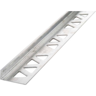 M D Building Products 3/8 In. x 8 Ft. Mill Aluminum L-Shape Ceramic Tile Edging