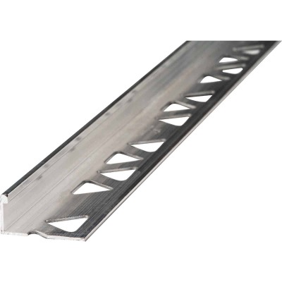 M D Building Products 1/2 In. x 8 Ft. Mill Aluminum L-Shape Ceramic Tile Edging
