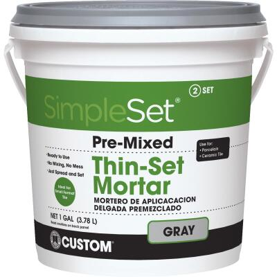 Custom Building Products SimpleSet Gallon Gray Pre-Mixed Thin-Set Mortar