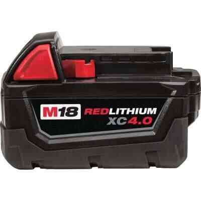 Milwaukee M18 REDLITHIUM XC 18 Volt Lithium-Ion 4.0 Ah Extended Capacity Tool Battery