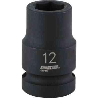 Channellock 1/2 In. Drive 12 mm 6-Point Shallow Metric Impact Socket