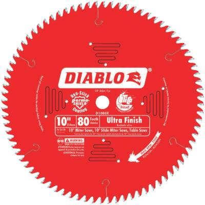 Diablo 10 In. 80-Tooth Ultra Finish Circular Saw Blade