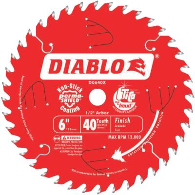 Diablo 6 In. 40-Tooth Finish Circular Saw Blade