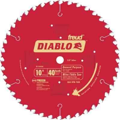 Diablo 10 In. 40-Tooth General Purpose Circular Saw Blade, Bulk