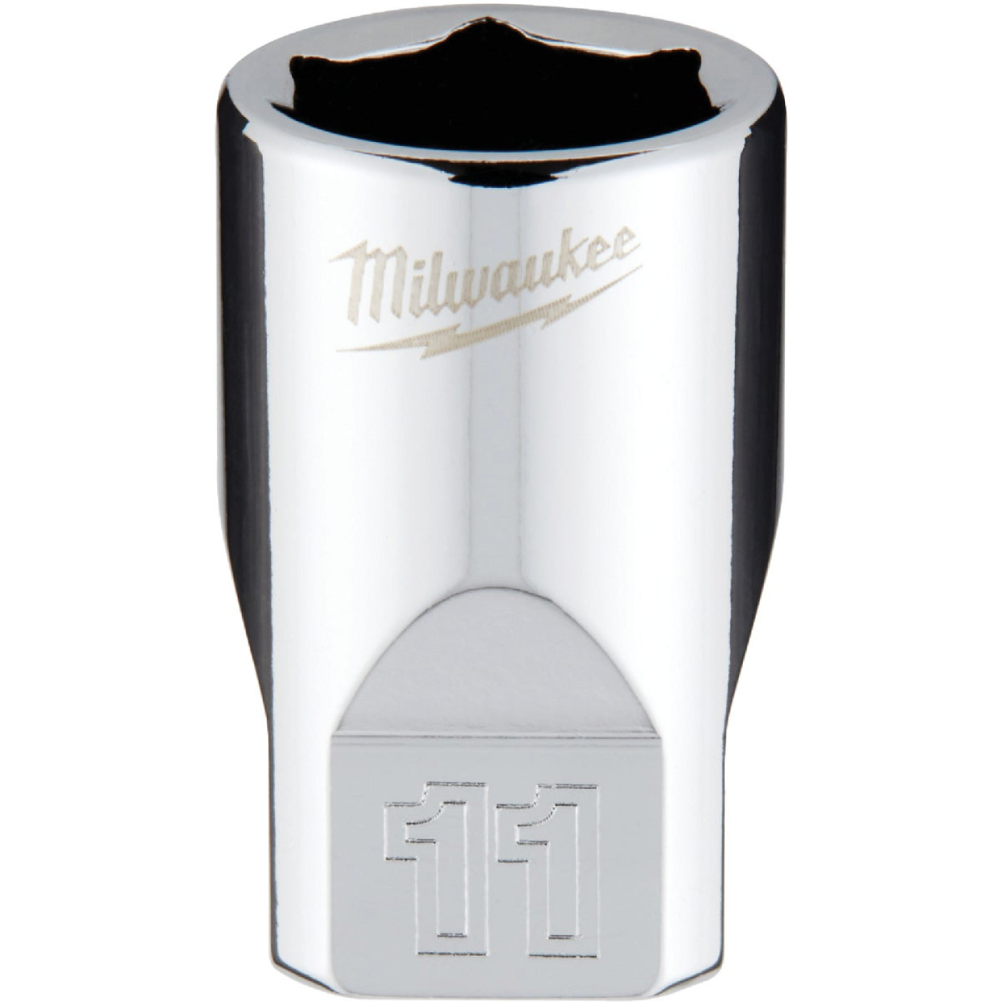 Milwaukee 1/4 In. Drive 11 mm 6-Point Shallow Metric Socket with FOUR FLAT Sides Image 1
