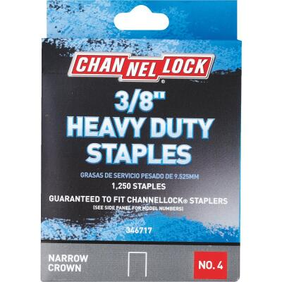 Channellock No. 4 Heavy-Duty Narrow Crown Staple, 3/8 In. (1250-Pack)