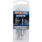 Channellock 1/8 In. to 5/32 In. Dia. x 0.251 In. to 0.437 In. Grip Aluminum POP Rivet (20-Pack) Image 1