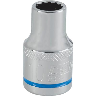Channellock 1/2 In. Drive 10 mm 12-Point Shallow Metric Socket