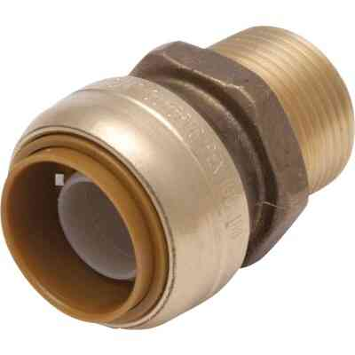 SharkBite 3/4 In. x 1/2 In. MNPT Bullnose Brass Push-to-Connect Male Adapter