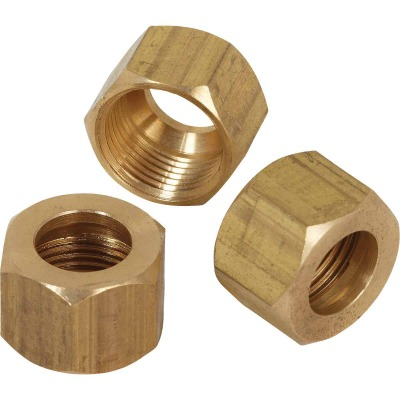 Do it 5/8 In. OD Brass Compression Nut (3-Pack)