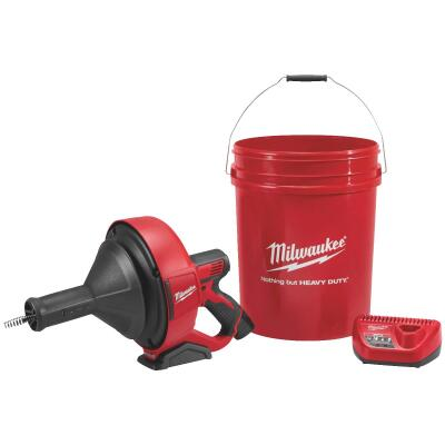Milwaukee M12 12 Volt Lithium-Ion Cordless Drain Auger Kit