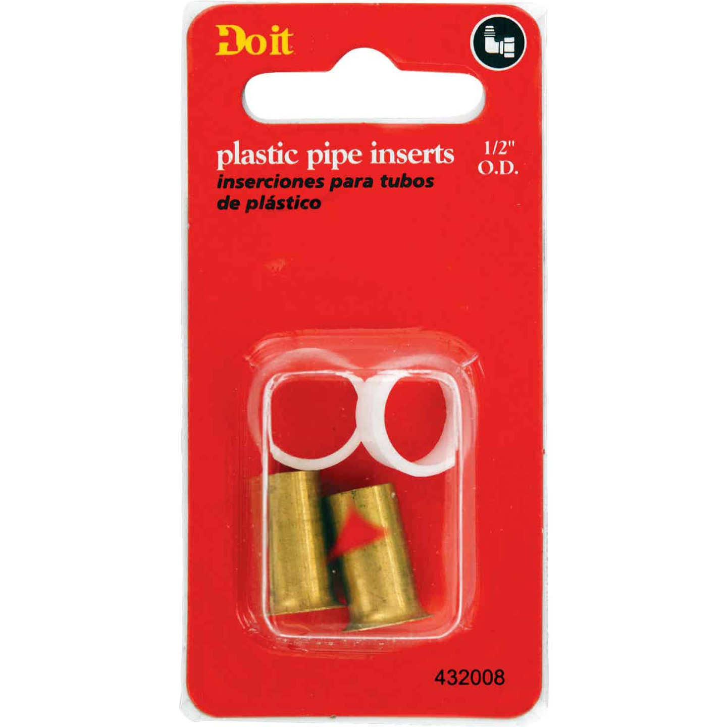 Do it 1/2 In. Brass Compression Insert (2-Pack) Image 2