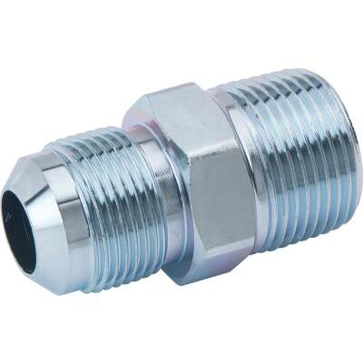 Dormont 5/8 In. OD Male Flare x 3/4 In. MIP (Tapped 1/2 In. FIP) Zinc-Plated Carbon Steel Adapter Gas Fitting, Bulk