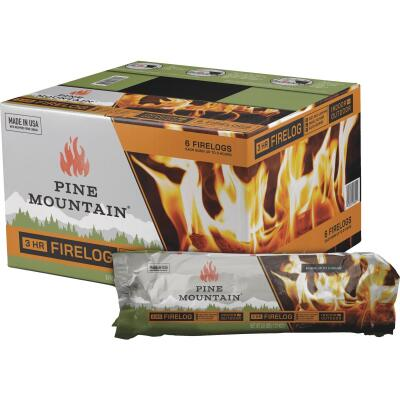 """Pine Mountain Traditional 3-Hour Firelogs, Easy Starter Logs, 10.5"""" x 3"""", 1 Pack Long Burning Firelog for Fireplace, Campfire, Fire Pit, Indoor & Outdoor Use"""