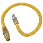 Dormont 1/2 In. OD x 24 In. Coated Stainless Steel Gas Connector, 1/2 In. MIP (Tapped 3/8 In. FIP) x 1/2 In. MIP SmartSense Image 1