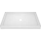 Delta Classic 400 48 In. L x 34 In. D Center Drain Shower Floor & Base in White Image 1
