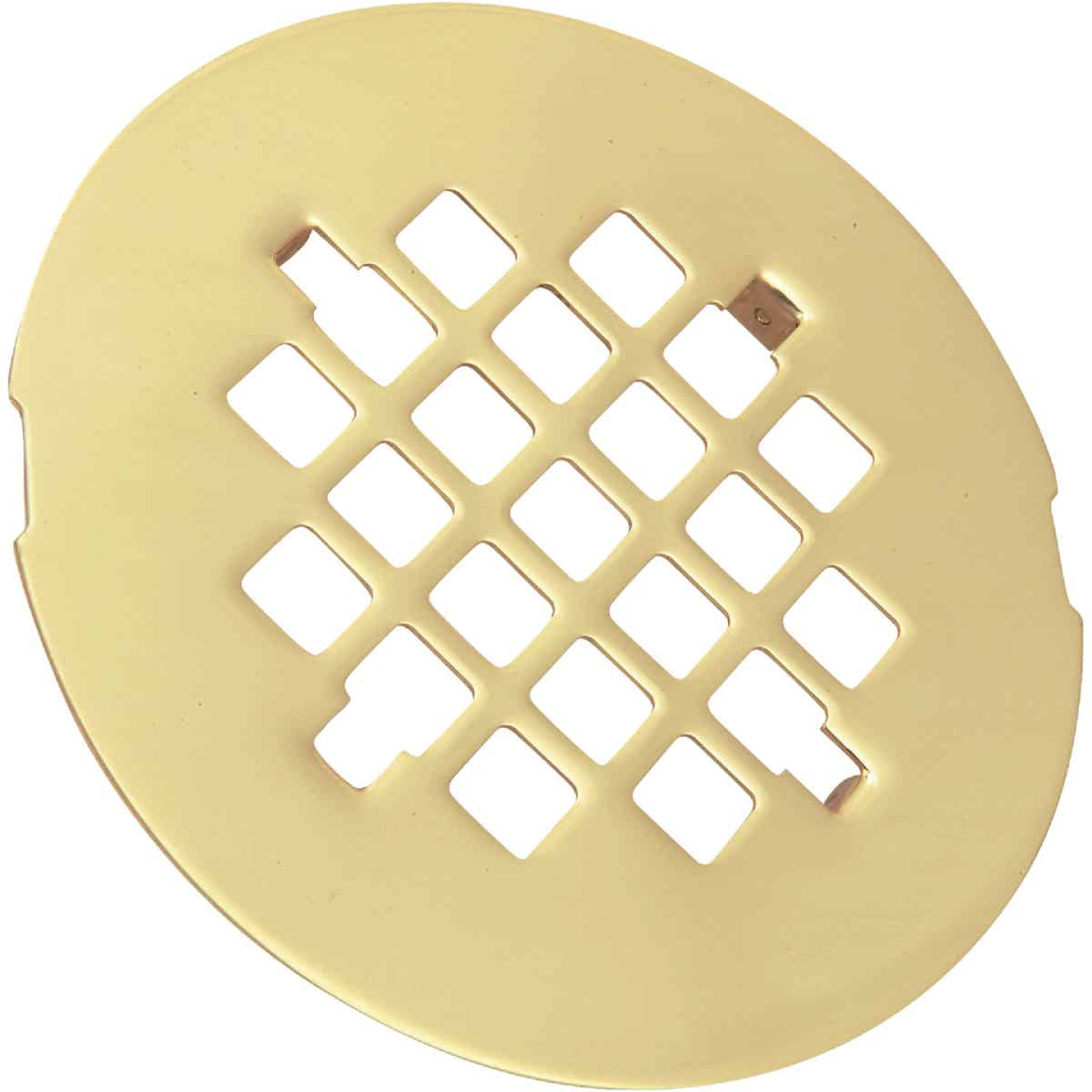 Do it 4-1/4 In. Polished Brass Snap-In Shower Drain Strainer Image 1