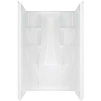 Delta Classic 400 3-Piece 48 In. L x 34 In. D Shower Wall Set in White