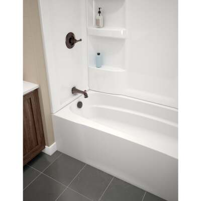 Delta Hycroft 60 In. L x 30 In. W Left Drain Bathtub in White