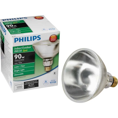 Philips EcoVantage 90W Equivalent Clear Medium Base PAR38 Halogen Spotlight Light Bulb