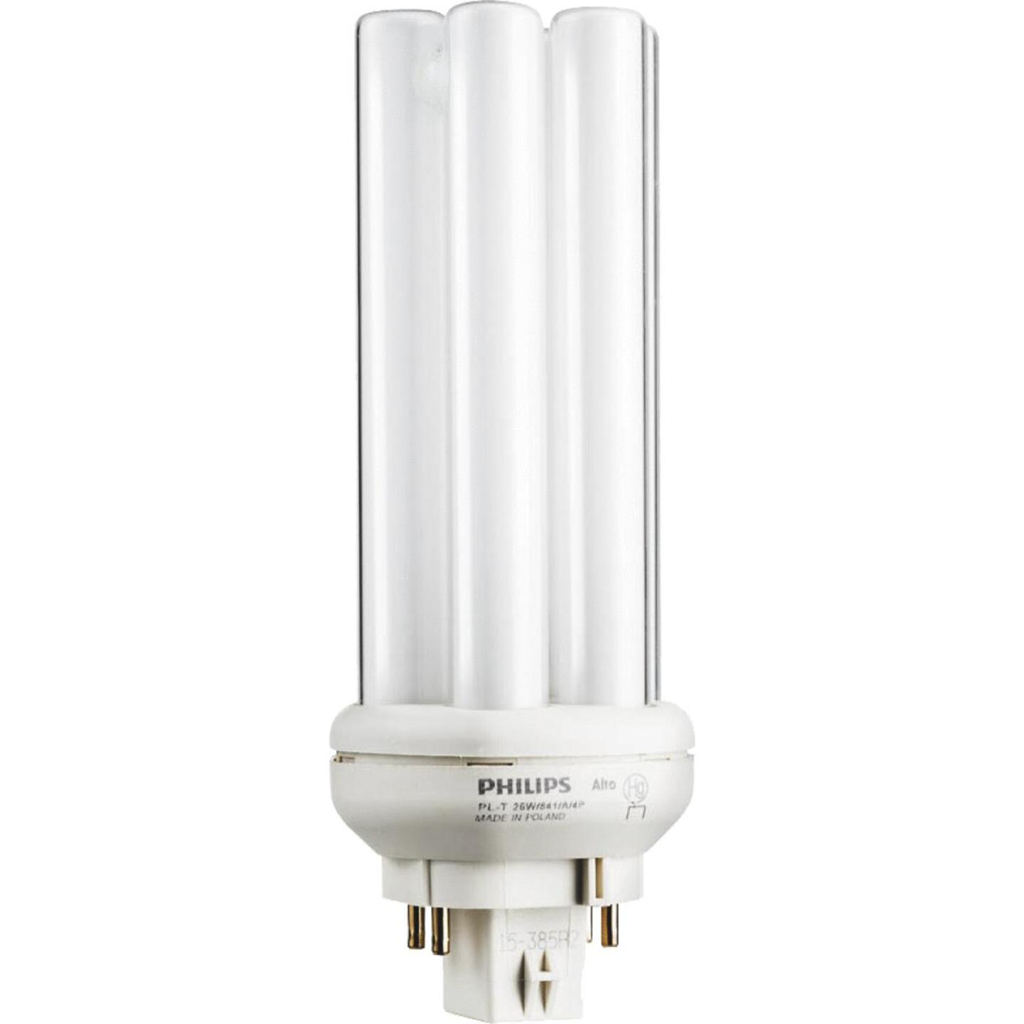 Philips 100W Equivalent Cool White GX24Q-3 Base PL-T CFL Light Bulb Image 1