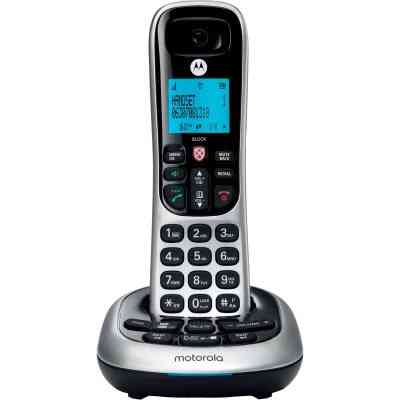 Motorola 1-Line 1-Handset Silver Cordless Phone with Answering System