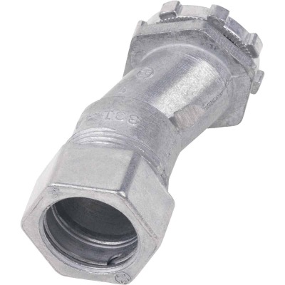Halex 1/2 In. Compression 3/8 In. Offset EMT Conduit Connector