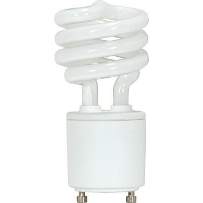 Satco 60W Equivalent Neutral White GU24 Base T2 Spiral CFL Light Bulb
