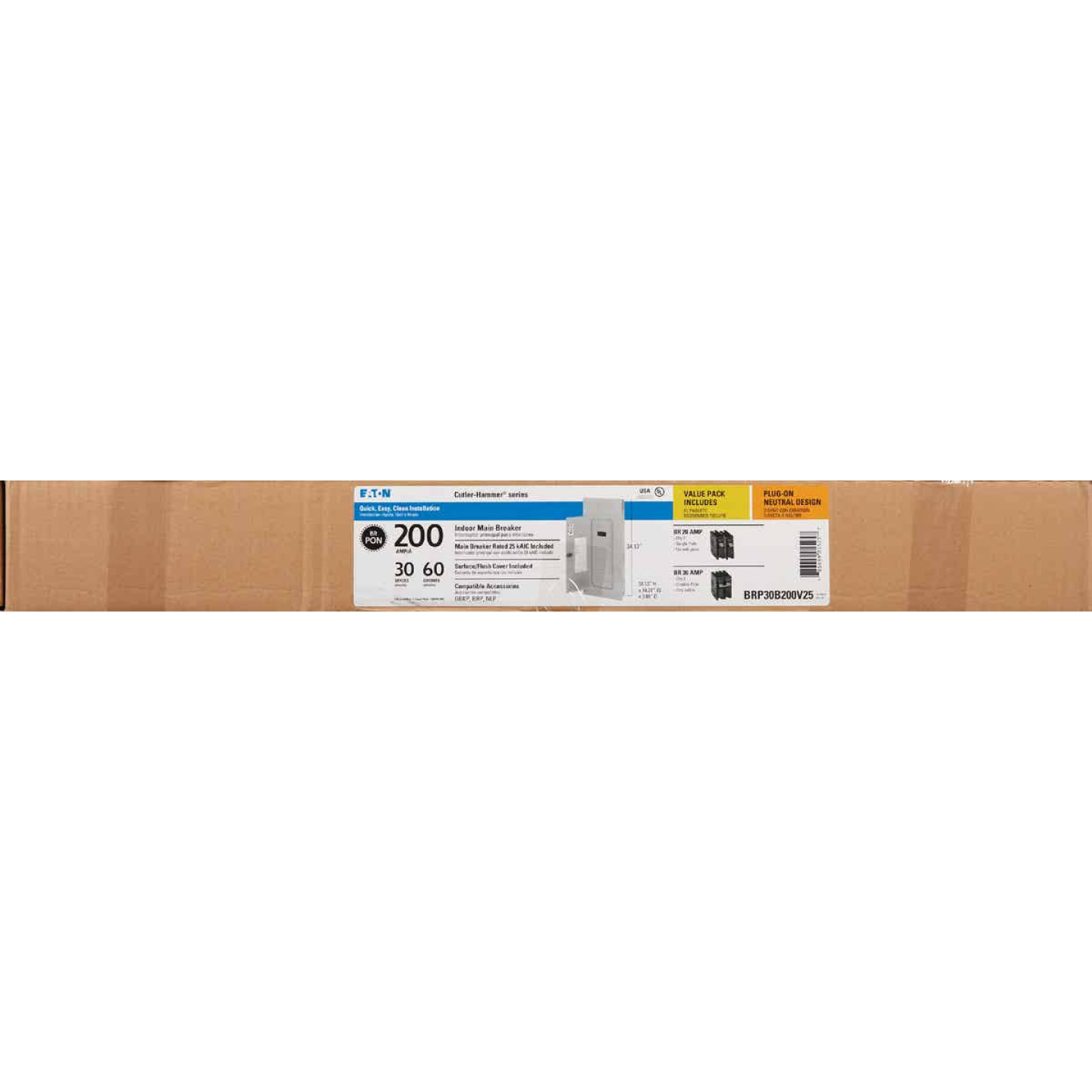 Eaton BR 200A 30-Space 60-Circuit Indoor Load Center Value Pack Image 2