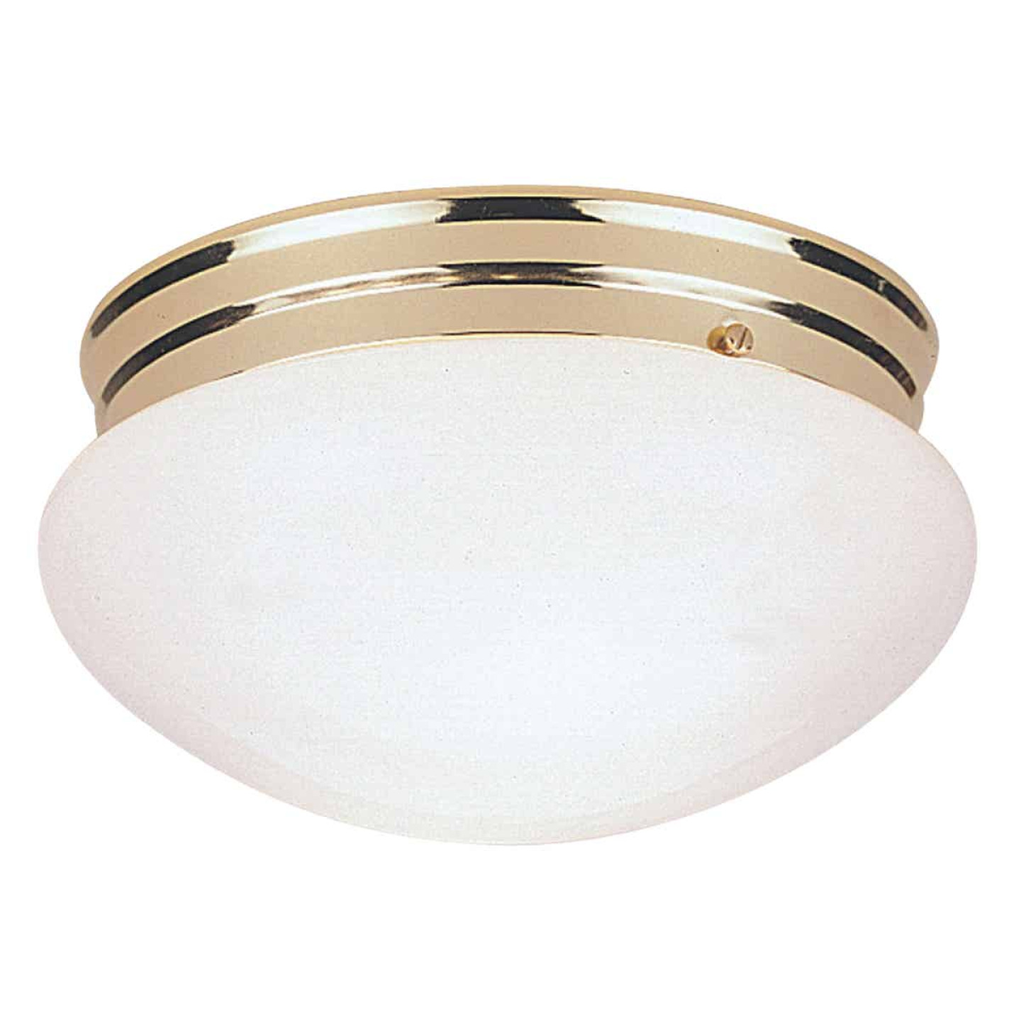 Home Impressions 7-1/2 In. Polished Brass Incandescent Flush Mount Ceiling Light Fixture Image 1