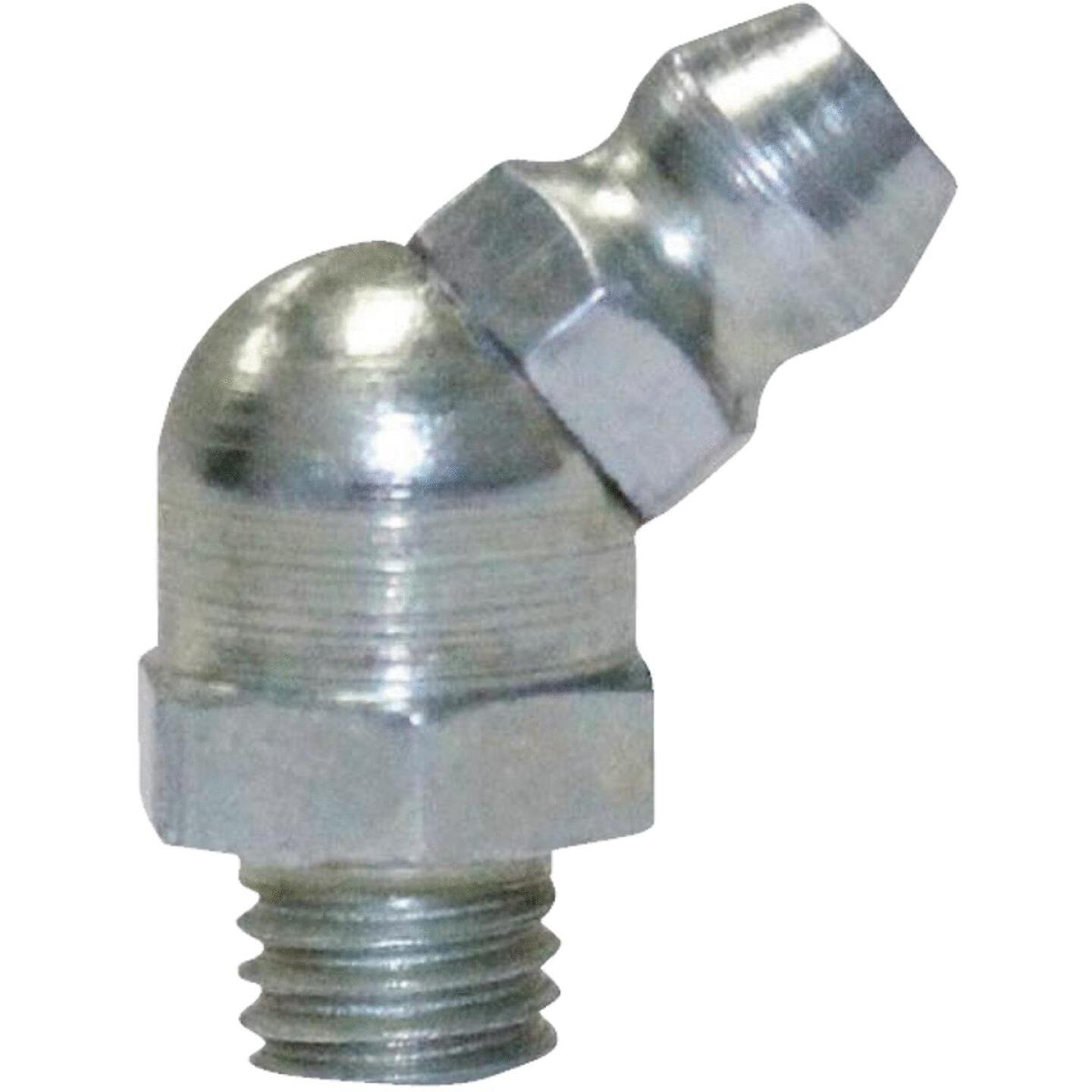 "Plews Lubrimatic 45 Deg 1/4""-28 Grease Fitting Image 1"
