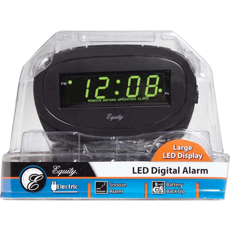 La Crosse Technology Equity Green LED Electric Alarm Clock Image 2