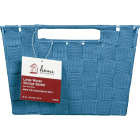 Home Impressions 10 In. W. x 6.75 In. H. x 14 In. L. Woven Storage Basket with Handles, Blue Image 2