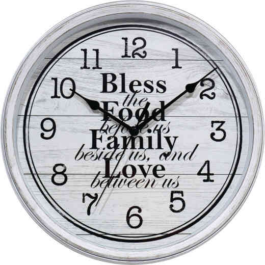 Westclox 11 In. Wall Clock with Inspirational Message
