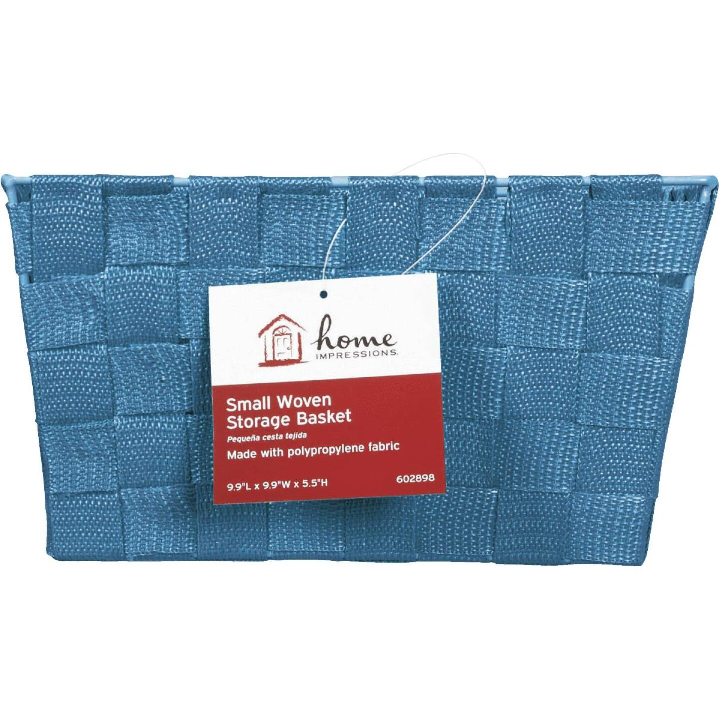 Home Impressions 9.75 In. x 5.5 In. H. Woven Storage Basket, Blue Image 2