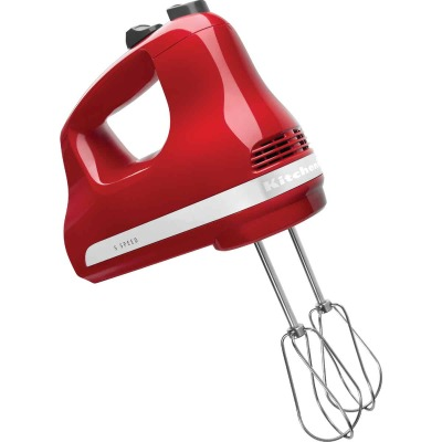 KitchenAid Ultra Power 5-Speed Red Hand Mixer