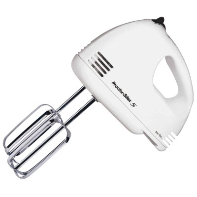 Proctor-Silex 5-Speed White Hand Mixer