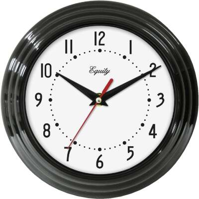 La Crosse Technology Equity Black Traditional Wall Clock